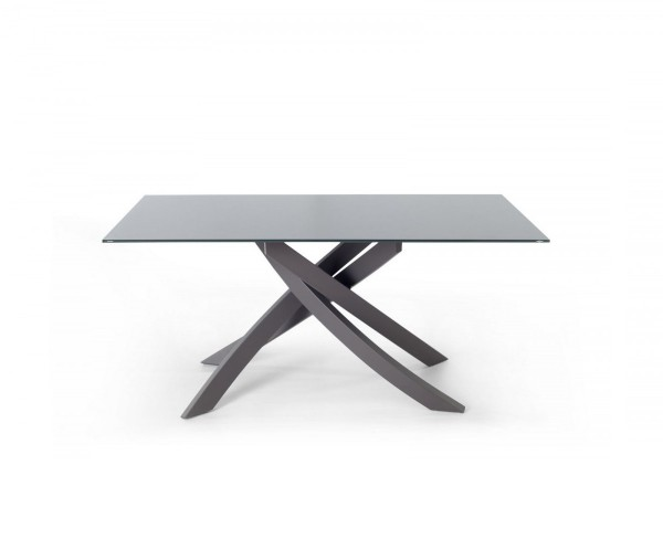 bontempi table with top in glossy glass or velvet matt anti-scratch glass