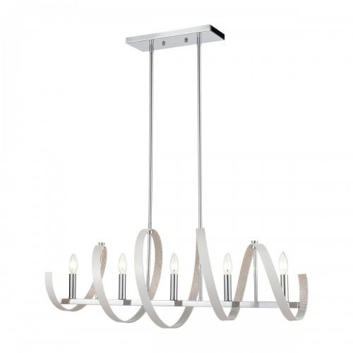 Modern Venue 5-Light Linear Chandelier  for Dining Room ELK Lighting Brooklyn,New York