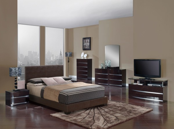 wenge aurora bedroom set