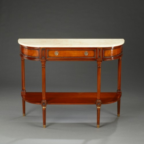 Glass and Wood Console Table, Modern Glass Console Tables Brooklyn - Accentuations Brand