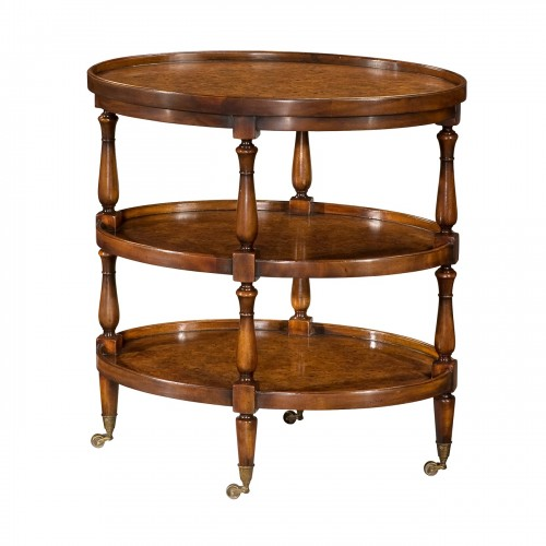 Theodore Alexander Appetizer Mahogany Lamp Tables for Sale Brooklyn, New York