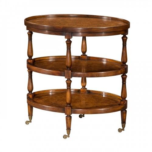 Theodore Alexander, Mahogany Lamp Tables for Sale, Brooklyn, New York
