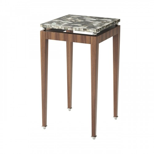 5005 737 Dark Pearl Accent Table theodore alexander