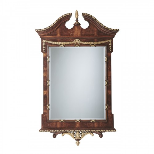 AL31038 The India Silk Bedroom Mirror Theodore Alexander