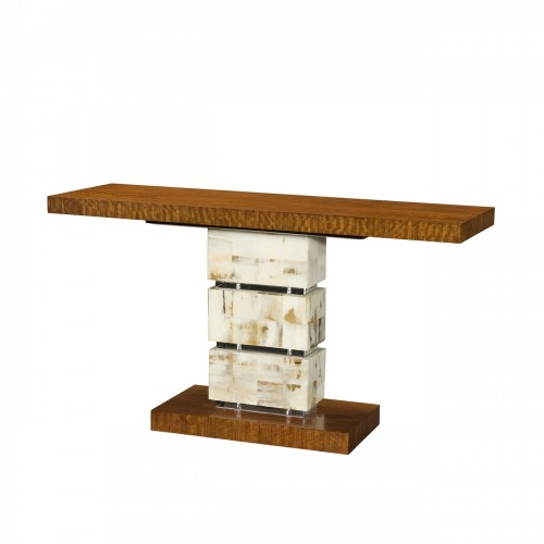 A Trio of Textures Console, Theodore Alexander Console, Brooklyn, New York