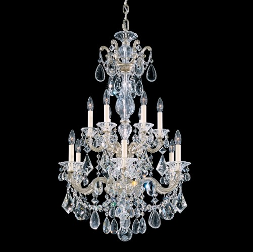 Schonbek Modern Crystal Chandelier, Furniture by abd, Accentuations Brand