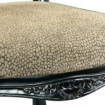 Upholstered in a fun Reptile Print fabric