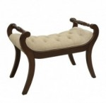 Finished in Tudor Brown this elegant bench