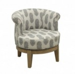 comfort barrel shaped accent chair